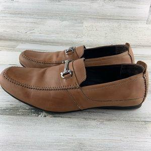 CLARKS Moc Toe Horsebit Loafers Size 12M